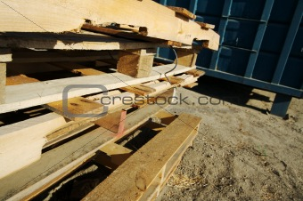 Abstract Stack of Wooden Palettes