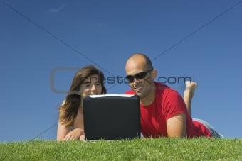 Boyfriends with a laptop