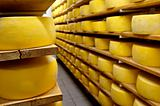 Cheese drying in shelf