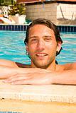 young man in the swimmingpool