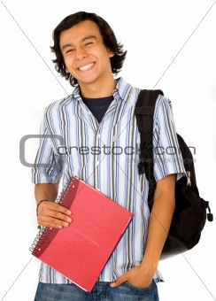 happy male student portrait
