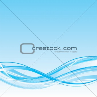 Wave background, vector