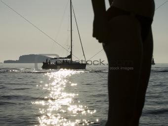 Adriatic coast sunset