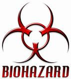 Beveled Red Biohazard Logo