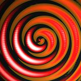 Orange Red Swirl