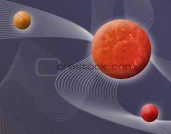 3d space illustration