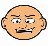 cartoon bald head