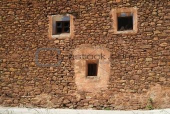 A human face wall