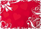 Valentines background with hearts, vector