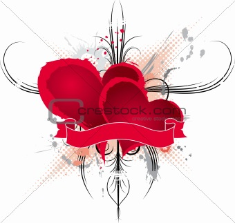 Abstract valentines frame, vector