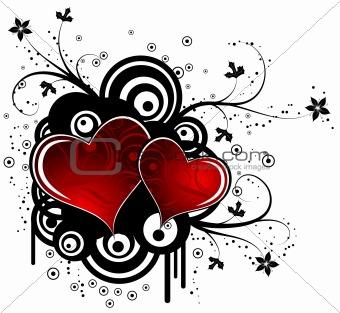 Abstract valentines background, vector