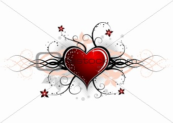 Abstract valentines design, vector