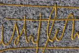 signature on stone