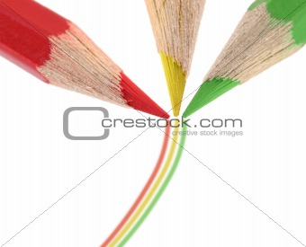 Three pencils
