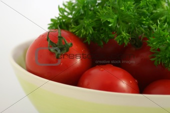 Tomatoes with parsley