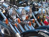Headlights of motorbikes