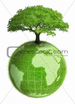 Green earth planet