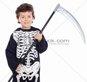 Boy in halloween