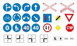 Traffic signs - Obligatory & Priority
