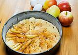 Baking an apple pie