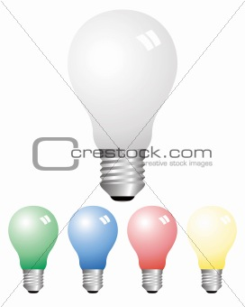 Opaque light bulbs