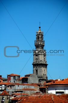 an overview over the roofs of porto
