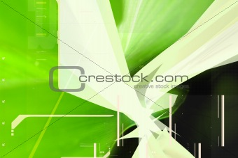 green 3d abstract composition