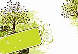 Grunge tree background, vector