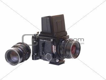 An vintage medium camera.