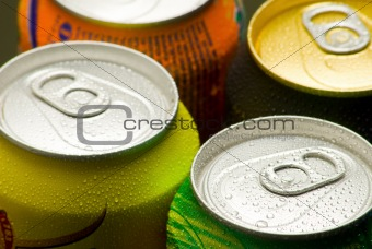 Cans of softy drink
