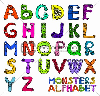 Monsters alphabet