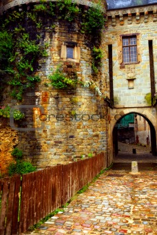 Old stone walls in Rennes