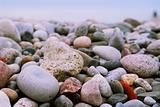 Beach pebbles