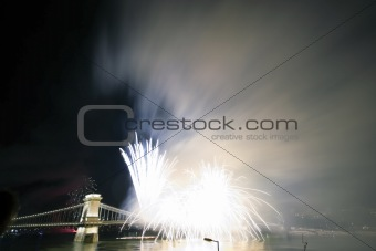 Fireworks in Budapest
