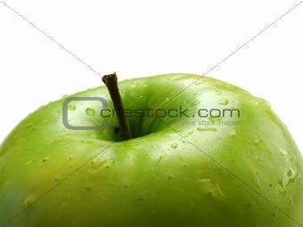 Green apple closeup