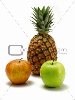 Apples and pineapple