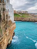Panoramic view of Polignano. Apulia.