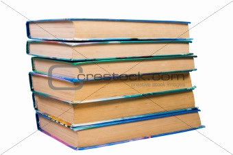 old books(clipping path included)