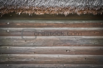 old building wooden wall