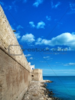 Ancient walls of Monopoli. Apulia.