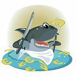 Shark in the sea euro