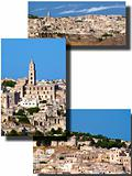 Collage of  the Sassi of Matera