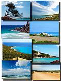 collage of the beautiful sea in Sardinia