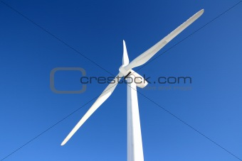 Single wind turbine in winter