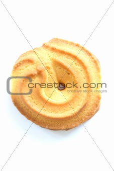 Single shortbread butter biscuit
