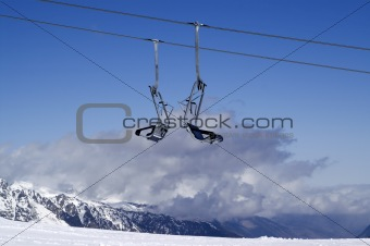 Chair-lift. Ski resort.
