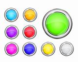 round colorful shiny icon set
