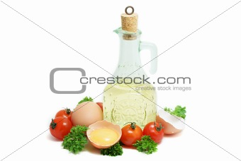 Oil and eggs