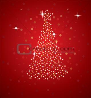 abstract holiday tree