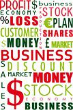 business word collage